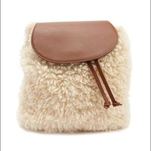 Forever 21 Faux Wool Shearling Backpack